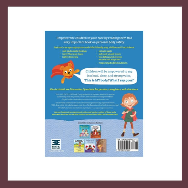 My Body! What I Say Goes! Children's Book
